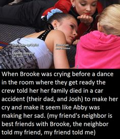 Heh wonder if that's true??? They probably told her to pretend like that happened so she'd be able to express sadness on stage