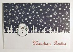 Joulukortti lumiukko