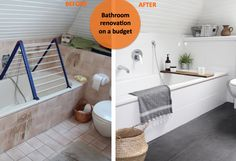 Renovate bathroom itself: before / after