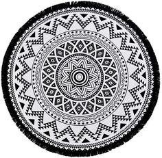 Linum Home Textiles Kilim Round Pestemal Beach Towel Bedding Mandala Artwork, Mandala Drawing, Mandala Canvas, Marquesan Tattoos, Towel Crafts, Textiles, Art Nouveau Design, Mandala Coloring Pages, Deviantart