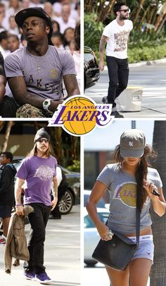 Celebrities love the lakers...    www.junkfoodclothing.com