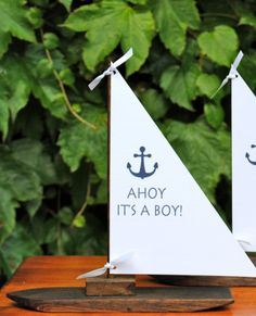 Sailboat Centerpiece would also be cute tutu give a twirl its a girl