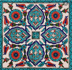 Turquoise and red tiles. #LGLimitlessDesign & #Contest
