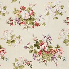 Traditional Floral Bouquet Fabric
