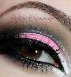 Make Up Glitter Pink  #makeup #eyes #shadow