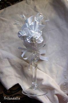 Декор предметов, Мастер-класс: Быстро-бокалы:) Клей, Стекло Свадьба. Фото 1