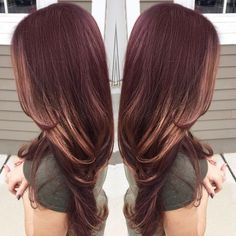 RED BROWN GOLD FALL HAIR HAIRCOLOR BALAYAGE SOMBRÉ OMBRÉ HIGHLIGHT _ajquinones's photo on Instagram by amber