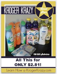 Check out this mini haul from reader Sabrina. She scored everything you see here for UNDER $3! You can be a Kroger Krazy Haul Star too! Learn how at www.krogerkrazy.com #kroger