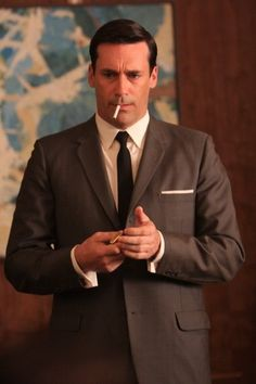 Don Draper in Mad Men...I can't wait for the new season!!!