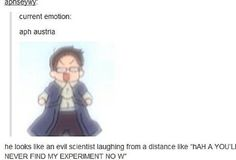 What makes this funnier is that the English voice actor also voiced Dr. Franken Stein (Soul Eater).