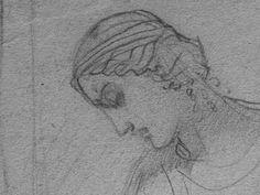 CHASSERIAU Théodore,1843 - Ste Marie l'Egyptienne, Assomption, Etude pour l'Eglise St-Merri(1) - drawing - Détail 02