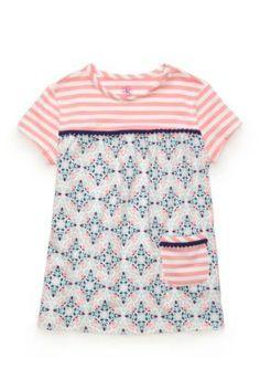 J. Khaki Posh Coral Knit Babydoll Top Girls 4-6x