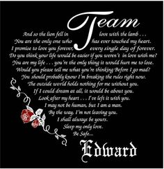Team Edward is the only one for me!