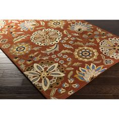 Surya ATH-5126 Athena Rust Hand Tufted Transitional - Floral Rug - Surya ATH-5126 Athena Rust Hand Tufted RugCollection: AthenaStyle : Transitional - FloralColor: RustColor_Group: RedPantone_Color: Arabian SpiceConstruction: Hand TuftedContents: 100% WoolBacking: CanvasPile Height: 0.63Pile: Plush PileOrigin: IndiaPrice Level: 2Sku: ATH5126-1014- Size : 10' x 14', Weight (lbs): 105Sku: ATH5126-1215- Size : 12' x 15', Weight (lbs): 135Sku: ATH5126-23- Size : 2' x 3', Weight (lbs): 5Sku…