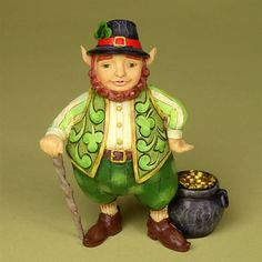 Luck Of The Wee Folk-Small Irish Leprechaun Figurine from Irish/St. Tom Clark, Irish Leprechaun, Erin Go Bragh, Kobold, Legends And Myths, Precious Moments Figurines, Irish Roots, Irish Celtic, Luck Of The Irish