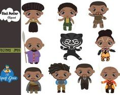 Movie Clipart, Disney Clipart, Cute Clipart, Superhero Clipart, Image Paper, Black Kids, Black Panther, Art Images, Paper Crafts