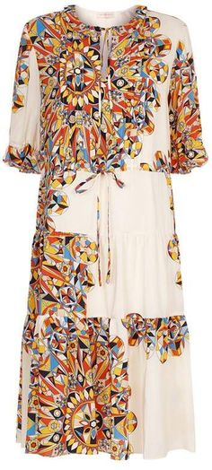 Overview Inspired by the work of celebrated interior designer David Hicks, this Arabaella dress from Tory Burch is printed with a colourful geometric design in a retro graphic style. | shopspring summer store summer trends summer style summer wear free spirit fashion #summeroutfits #summerstyle #boho #bohemian #summeroutfits #summerstyle #summerfashion #outfits #outfitoftheday #outfitideas #womensfashion #CommissionLink