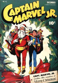 Captain Marvel Jr #14, december 1943, cover by Mac Raboy.