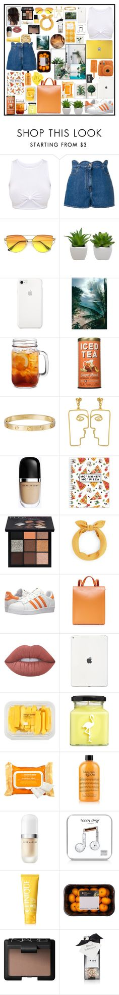"""""""Summer is coming"""" by edelintess on Polyvore featuring Valentino, Cartier, Nina Kastens, Marc Jacobs, TF Publishing, Huda Beauty, adidas Originals, Haerfest, Lime Crime and MANGO"""