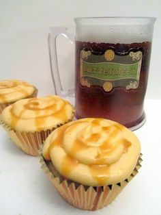 butterbeer cupcakes - harry potter love