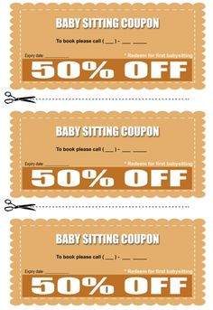 Coupon Book Template   Collection Of Eyecatching Free Printable Babysitting Coupon Book