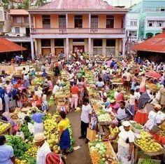 Open market St.George Grenada