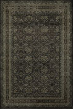 Traditional Area Rug Rectangle Charcoal Color Momeni Encore Collection