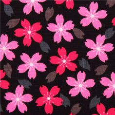 cherry blossom flower dobby fabric from Japan