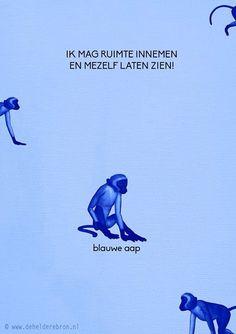 Blauwe aap