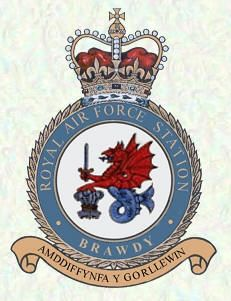 RAF Station BRAWDY. Location, County: Pembrokeshire Raf Bases, Air Force Aircraft, Royal Air Force, Crests, Badges, Wwii, History, Genealogy, Planes