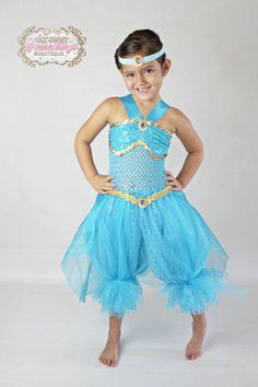 princess jasmine inspired turquoise gold by oursweetsomethings4u - Halloween Jasmine