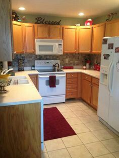 Like The Red Accents Rug And Towel Kitchen Colors