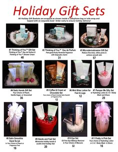 Mary Kay holiday gift sets :) As a Mary Kay beauty consultant I can help you, please let me know what you would like or need. www.marykay.com/arosser