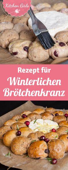 Rezept für Brötchenkranz mit Käse Cranberries, Meat, Chicken, Food, Kitchens, Delicious Sandwiches, Brown Bread, Glutenfree, Breads