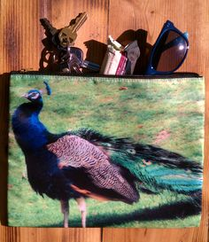 Peacock+Makeup+Bag+Large+Clutch+or+Cosmetic+by+whatleyphotography,+$10.00