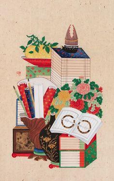 Korean Art, House Plants, Art Drawings, Folk, Digital Art, Traditional, Holiday Decor, Illustration, Poster