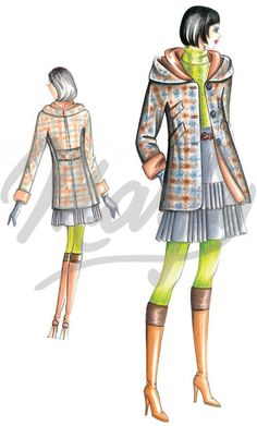 Model 2914 | Sewing Pattern Coats / Overcoats / Jackets