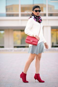 abeca56300 7 Best Chunky-Sweater- -Red-Booties images