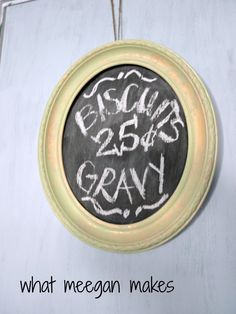 Framed Cardboard Chalkboard #DIY #CRAFTS