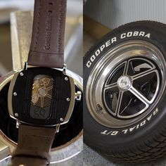 A back view of the P-51-02 - with design references to the classic Ford Mustang rims  - Shop now for recwatches > http://ift.tt/1Ja6lvu