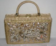 Wicker Sea Creatures Seashell Purse $55 - QuirkyFinds.com