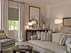 South Shore Decorating Blog: Design Crush: Roughan Interiors...  I like this Vase of Stems...Using them in front of the Mirror doubles the impact and enjoyment...