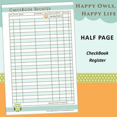 full page printable checkbook register 4k pictures 4k pictures