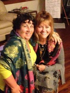 Many women have become friends through the Sisterhood of the Sacred Scarves. Two marvelous healers, Dolores J. Gozzi (on the left) and Marilyn Ashe Wison (on the right) - both from different coasts in Florida - have become dear friends since they met at a Summer Solstice scarf ceremony led by Dolores on behalf of the sisterhood. www.thespiritedwoman.com