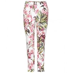 Dolce & Gabbana Floral-Print Trousers (3.860 HRK) ❤ liked on Polyvore featuring pants, trousers, bottoms, jeans, multicoloured, floral trousers, multi color pants, dolce gabbana pants, flower print pants and multi colored pants