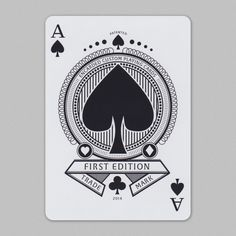 Encarded #aceofspades Custom Playing Cards, Ace Of Spades, Cool Cards, Cool Stuff, Illustration, Collection, Design, Letters, Illustrations