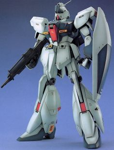"""The ReGZ, basically a mass produced version of the Zeta Gundam, but the project was cancelled so only one was built. Instead of transforming it had a backpack plane thingy. A """"wanna-be Gundam."""""""