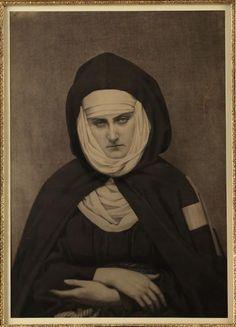 Anonymous, Portrait of Comtesse de Castiglione, hermit in Passy, 1863