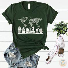 Mom Shirts, Cute Shirts, T Shirts For Women, Cactus Shirt, Flower Shirt, T Shirt Photo, Ash Color, Lady, Spun Cotton