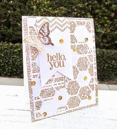 A all Gold heat embossed card using Stampin' Up! products all details over my blog www.pinkblingcrafter.blogspot.com